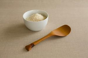 Mutlzi Rice Potato scoop handmade wood spoon. Making the practice of life beautiful. www.multzi.com