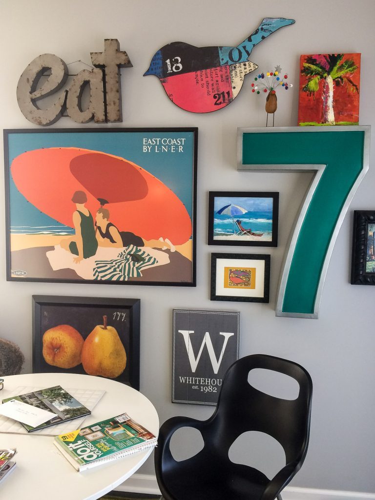 Anne Whitehouse Creative Interior Designer Home Collage Wall