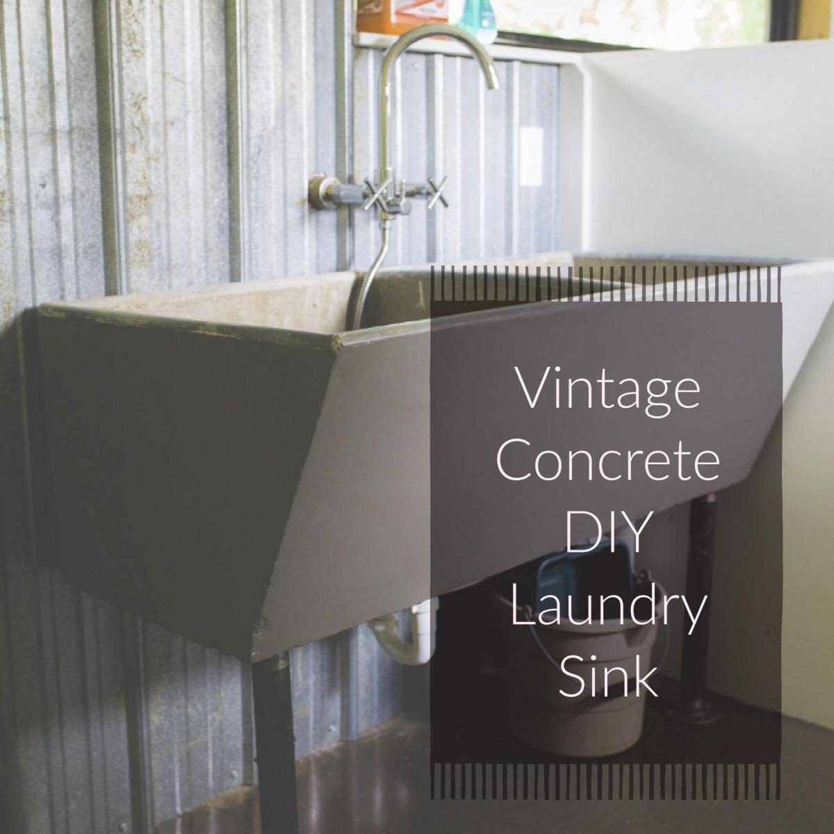 Diy Vintage Concrete Laundry Sink 187 Multzi